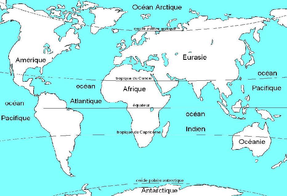 Carte Du Monde Avec Equateur.Les Reperes Du Brevet Laclassehgnumerique