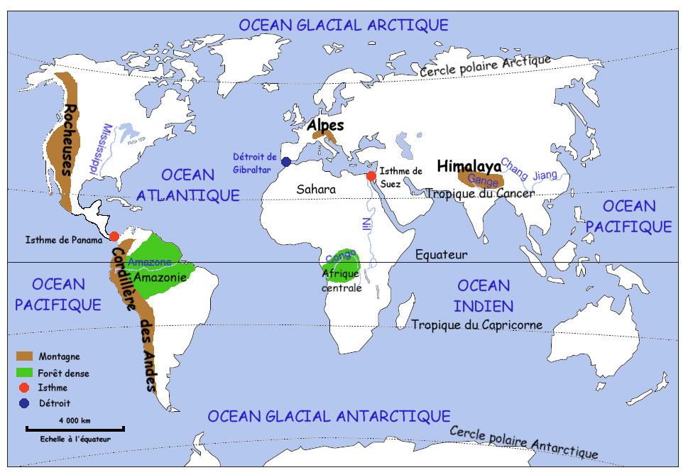 carte du monde avec equateur et tropiques espacoluzdiamantina: 25 Nouveau Carte Du Monde Avec Les Tropiques